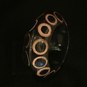 Jewelry - Black/Gold bangle-hand painted